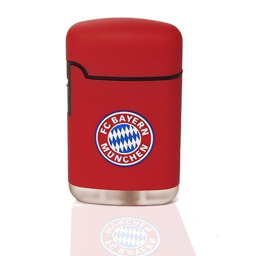 Feuerzeug FC Bayern München | Easy Torch Rubber mit Logo rot