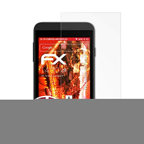 atFolix Schutzfolie passend für Archos 40 Power Folie, entspiegelnde & Flexible FX Bildschirmschutzfolie (3X)