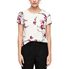 s.Oliver BLACK LABEL Damen 01.899.12.5530 Bluse, Cream Flowers Print, (Herstellergröße: 34)