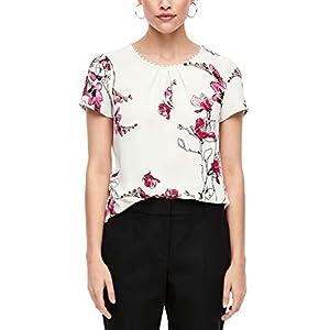 s.Oliver BLACK LABEL Damen 01.899.12.5530 Bluse, Cream Flowers Print, (Herstellergröße: 34)