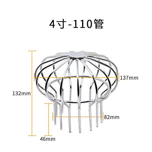 huafengsc Floor Drain Cover 304 Stainless Steel Balcony Floor Drain roof Garden Floor Drain rain Bucket Anti-Blocking, 110 Bright 4 inch -