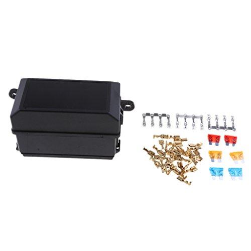 Preisvergleich Produktbild Homyl Kfz-Sicherungskasten-Relaishalter mit 6x Relais für Auto & Koffer ATV Versicherung
