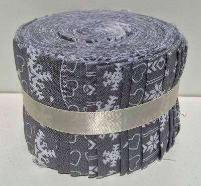 Fabric Freedom Jelly Roll FFJR15 Patchwork-Stoff, 20 Streifen (4 je 5 Designs), je 6 cm x 110 cm, 20 Stück (Quilten Stoff Jelly Rolls)
