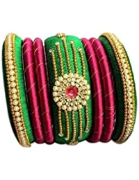 Mayank Creations Multi-Colour Colour Silk Thread Bangle Set For Women