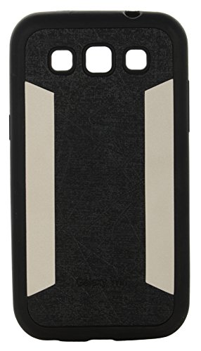 iCandy™ 2 Color Soft Lather Finish Back Cover For Samsung Galaxy Grand Quattro I8552 - Black  available at amazon for Rs.119