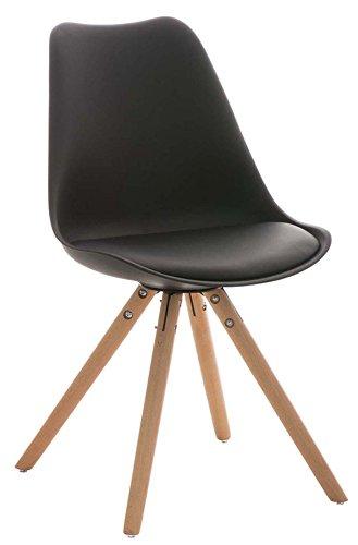 Chaise-visiteur-en-similicuirplastiquebois-noir-84-x-47-x-59-cm-PEGANE