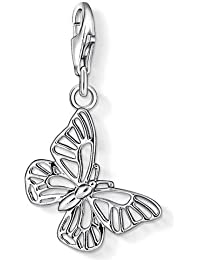 Thomas Sabo Women-Charm Pendant Butterfly Charm Club 925 Sterling Silver 1038-001-12