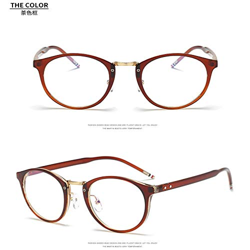 Yangjing-hl Herren- und Damenbrillen Brillen Computerspiegel Herren- und Damenmodelle ohne Grad Flachspiegel Anti-Blaulichtbrillen braun