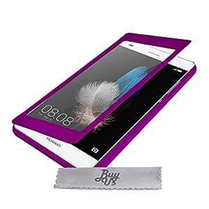 Etui Housse ExtraSlim Vitre Tactile et Stand Huawei P8 Lite 4G - Violet