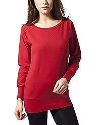 Urban Classics Damen Sweatshirt Ladies Wideneck Crewneck