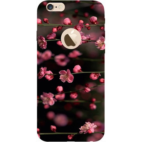 Casotec Pink Flowers Design Hard Back Case Cover for Apple iPhone 6 / 6S