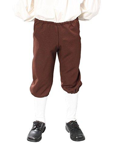 Alexanders Costumes Kids Knicker Pants, Brown, Medium