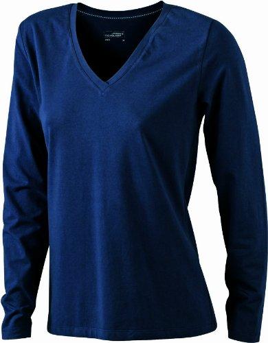 James & Nicholson Damen T-Shirt Stretch Longsleeve Small navy (Stretch-jersey-t-shirt Damen)