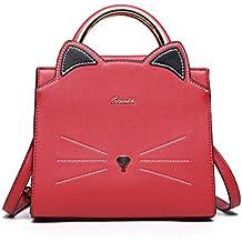 Borsa Donna Tracolla Gatto in Pelle PU Borse Spalla Piccola a Mano Elegante  Bag per Ragazze 4fdef3da140
