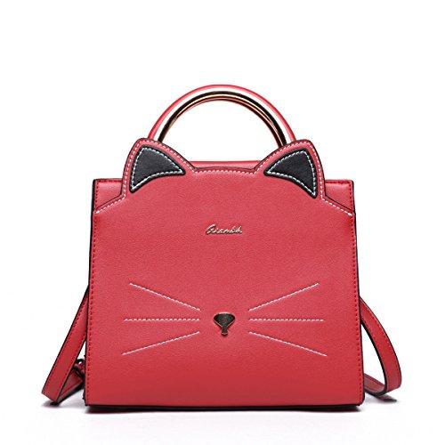 ... new concept 4c9ec e82ce Cat Purse for Women Small Cute CrossBody Faux  Vegan pu Leather Animal ... 1459fb8885d69