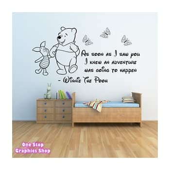 1Stop Graphics   Shop Winnie The Pooh Wall Sticker 3   Girls Boys Baby  Bedroom Quote Part 80