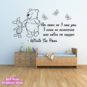 1Stop Graphics   Shop Winnie The Pooh Wall Sticker 3   Girls Boys Baby  Bedroom Quote Part 13