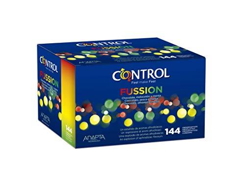 Control Fussion Preservativos - Caja de condones con 144 unidades (pack ahorro)