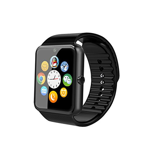 Smartwatch Android, Willful Smart Watch Telefono con SIM Card Slot Fotocamera Cronometro OLED Touch Screen Orologio Fitness Watch Android Wear per iPhone Samsung Sony Android iOS Smartphone per Donna Uomo Sports Running (Black)