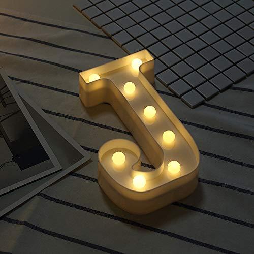 Beonzale Fernsteuerungsalphabet-Buchstabe beleuchtet LED leuchten weißem Plastikbuchstaben Standin