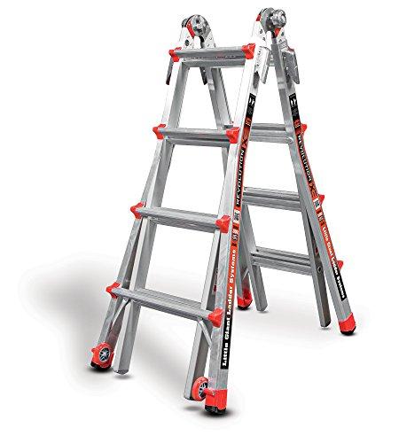 Little Giant 4 Rung Revolution XE | Aluminium Multi-Purpose Ladders, Model 17 | Little Giant Ladder System Inc. Lifetime Warranty