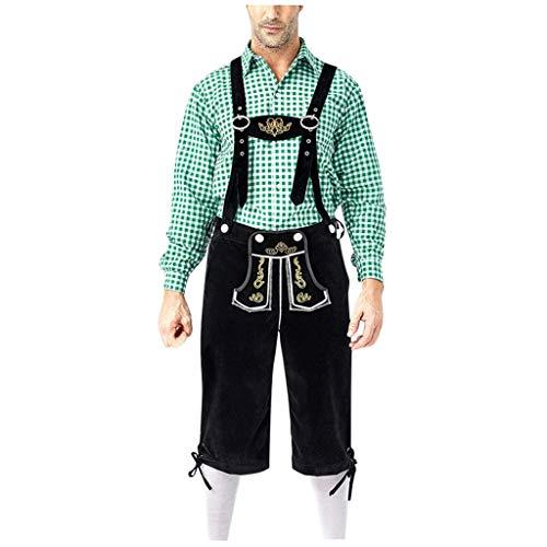 Kostüm Lederhosen Kind - Subfamily Trachtenmode Herren Set Trachtenhemden Langarm und Stickerei Trachtenhose
