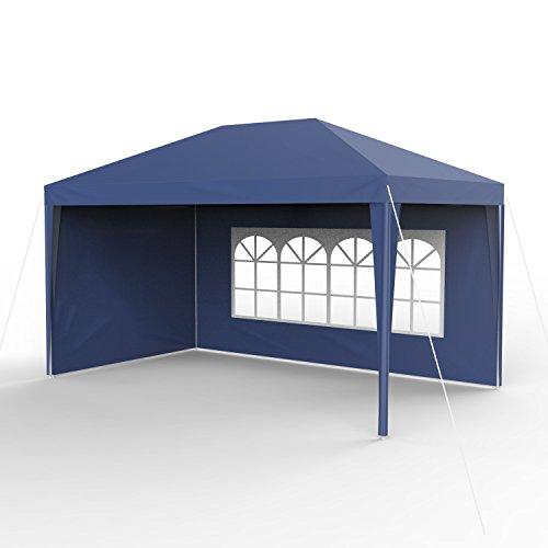 Sekey 3x4m giardino gazebo impermeabile/padiglione da giardino/regolabile / gambe per tende da giardino, per giardino/festa / matrimonio/picnic, uv30 +, pareti laterali, blu