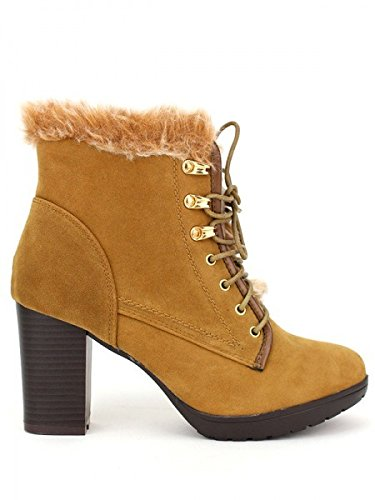 Cendriyon, Bottine Caramel FDM MODA Chaussures Femme Caramel
