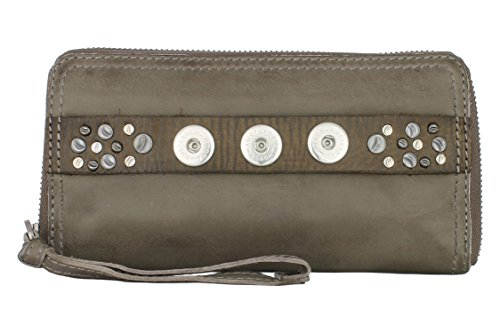 NOOSA Amsterdam CLASSIC WALLET grey ohne Chunks (Sandale Leder Knochen)
