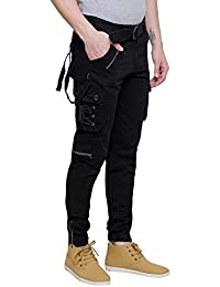 Verticals Men's Dori Style Cotton Relaxed Fit Zipper Cargo Pants
