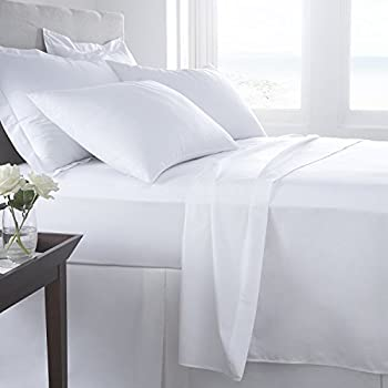 small double 4ft size white percale fitted sheet 200. Black Bedroom Furniture Sets. Home Design Ideas