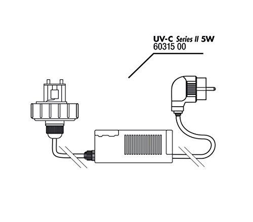 Gehäusedeckel + Vorschaltgerät UV-C 5W -