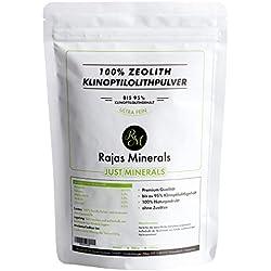 Zeolita Clinoptilolita en polvo (1 kg) Primera Calidad - libre de aditivos, conservantes y rellenos. Tierra Mineral Desintoxicante (1000 g)