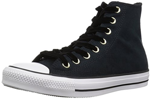 Converse CTAS Hi, Zapatillas de Deporte para Mujer, Negro Black/White 001, 39 EU
