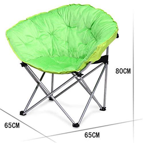 Faules Sofa, das kampierenden Wannen-Stuhl-Hochleistungsaufgefüllten Fischen-Mond-Sitz Portable im Freien faltet Praktischer Multifunktionaler Loungesessel (Farbe : Grün, Größe : 65 * 65 * 80cm)