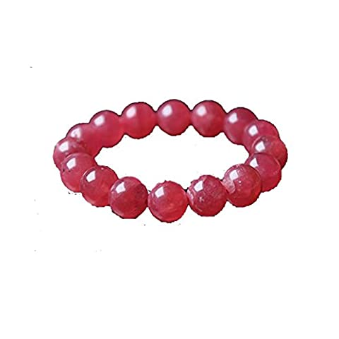 New Year Sale ! Rhodochrosite Beads Bracelet Natural Gemstone Original Stone Beads Size - 6mm Chakra Gemstone Crystal Healing Reiki Stone For Assists Deep Emotional Healing Free Set Of 3 Lapis Lazuli Pyramid