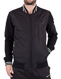 Converse Homme Noyau Bomber Tipped Logo Jacket, Noir