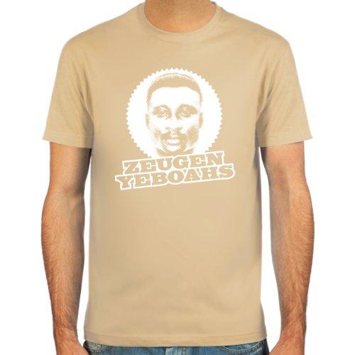 """SpielRaum T-Shirt Anthony \""""Tony\"""" Yeboah ::: Farbauswahl: skyblue, sand, deepred, schwarz, oliv oder navy ::: Größen: S-XXL ::: Fußball-Kult"""