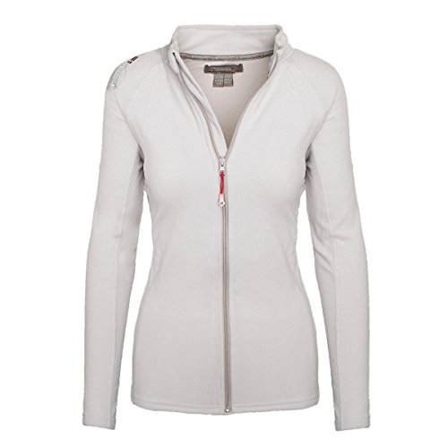 Geographical Norway Damen Fleece Jacke Übergangs Sweatjacke Pullover [GeNo-21-Hellgrau-Gr.M]