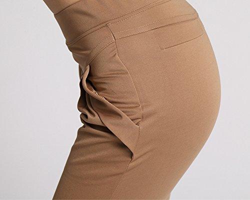 Donna Pantaloni Casual Pantaloncini Sezione Sottile Dei Pantaloni Del Harem Cachi