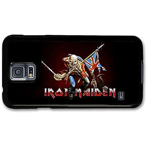 Iron Maiden Union Jack Flag Skeleton Logo carcasa de Samsung Galaxy S5 A6398