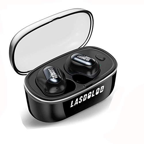 Lasdoloda Cuffie Bluetooth 5.0, Auricolari Bluetooth TWS Leggeri Hi-Fi Cuffie Cancellazione Rumore,Auricolari Sport, Earbuds con Mic per iPhone e Android con Scatola Ricarica Portatile