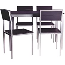 Abitti Conjunto de Mesa + sillas Xobe, para Comedor, Salon o Cocina en Color