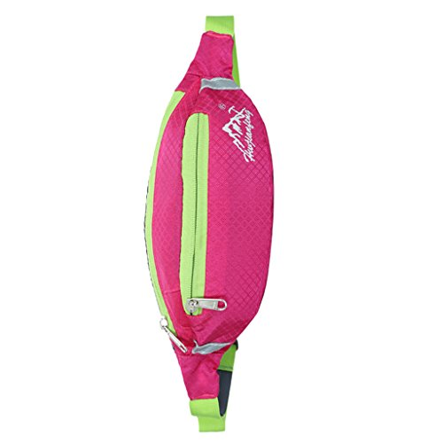 Sport Hüfttasche, Wasserdicht Unisex, Brusttasche für Radfahren, Bergsteigen, Wandern, Jogging Roserot