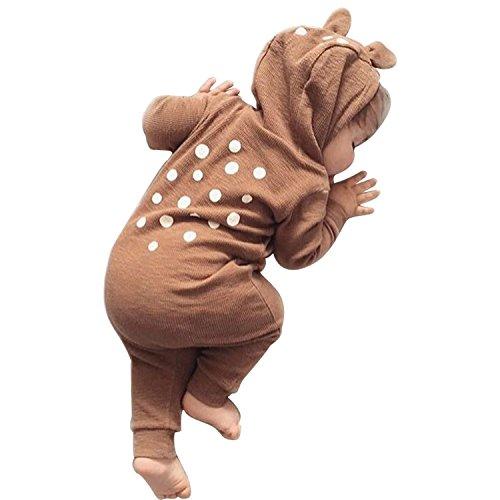 CHIC-CHIC Baby Winter Overall Baby Schlafsack Schlafanzug Kleinkind Baumwolle Strampler Kapuzejacke Kind Strampelanzug