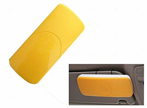Preisvergleich Produktbild CUGLB Cool Auto Car Tissue Box Sonnenblende Gewebe Kasten Serviette Halter Taschentuch Clip Abpumpen Behälter (GELB)