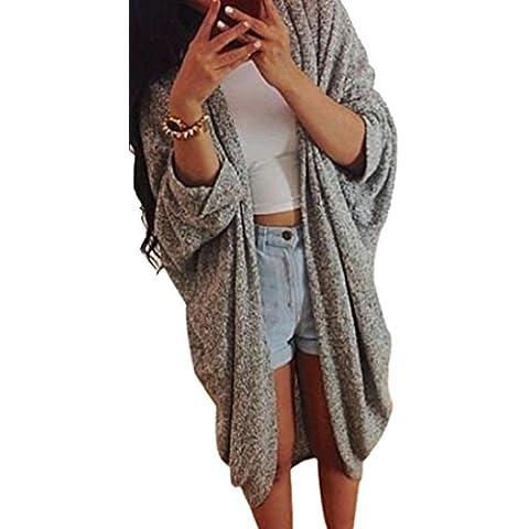 Fortan Womens Lady Casual magliata manica del cappotto del rivestimento del cardigan