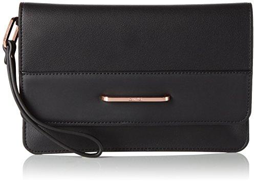 Calvin Klein HEATH3R Clutch, Sacchetto Donna, 2x17x25 cm (b x h x t) Nero (Black)