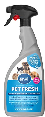 Envii Pet Fresh - Eliminateur de taches et d'odeur d'urine d'animaux - 750ml