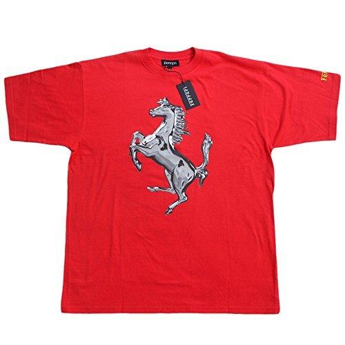 Ferrari OBS PR Horse TSH Herren T-Shirt Scuderia Formel 1 Team Tee F1 Rot Hemd Top Cotton -